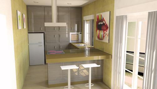 Dise o de cocina peque a para la vivienda for Cocina office pequena