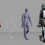 Pasar los movimientos reales a personajes 3d