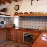 La cocina de la vivienda rústica