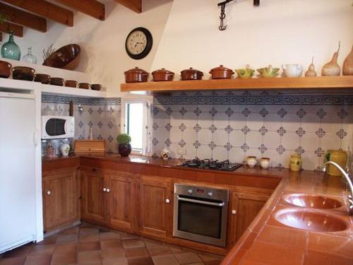 Casas r sticas dise o de cocinas con decoraci n r stica for Cocinas interiores casas