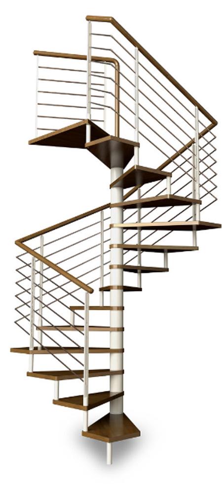 escalera de caracol cuadrada