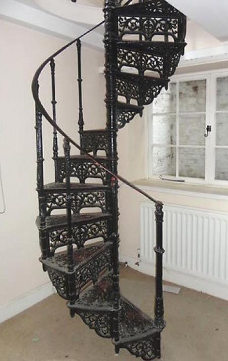 peldaños metalicos para escaleras de caracol