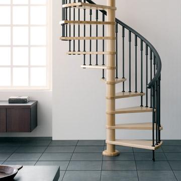 Escalera de caracol y el dise o interior de la vivienda for Como hacer una escalera caracol metalica