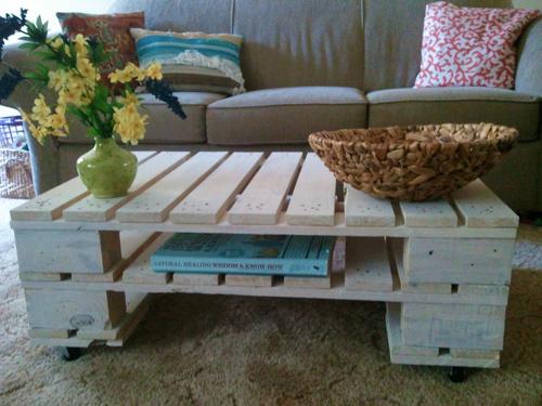 muebles con madera de reciclaje