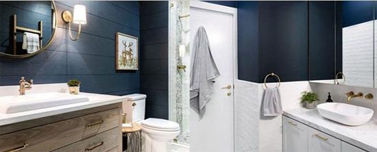 adornos para baños paredes pintadas
