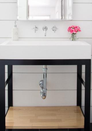 decoracion minimalista del baño