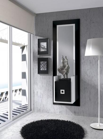 Mueble recibidor muebles para recibidores modernos for Espejos modernos para recibidor