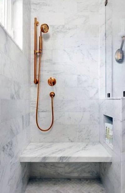 reforma baño pequeño con marmol