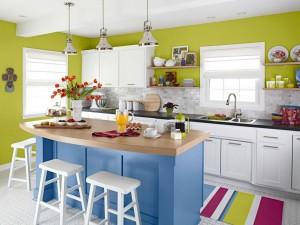 diseños de cocinas con colores