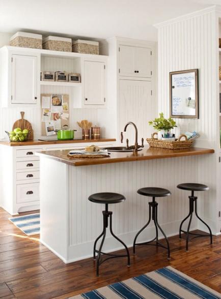 cocinas pequeñas minimalistas con isla