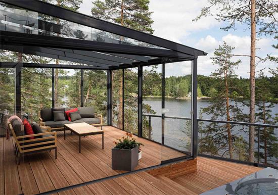 cortinas de cristal para terraza
