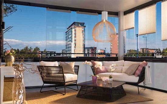 cortinas de cristal en balcon