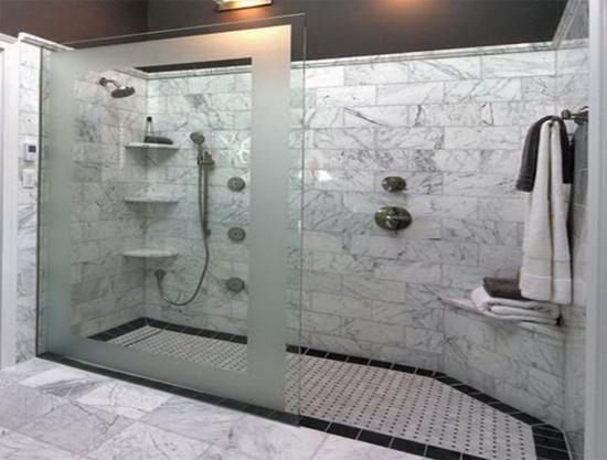 baños pequeños con ducha de obra